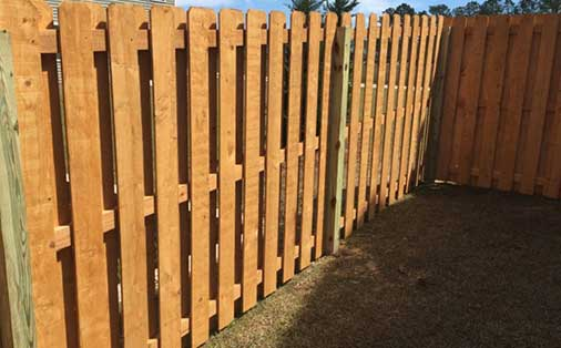 Prestained Fence
