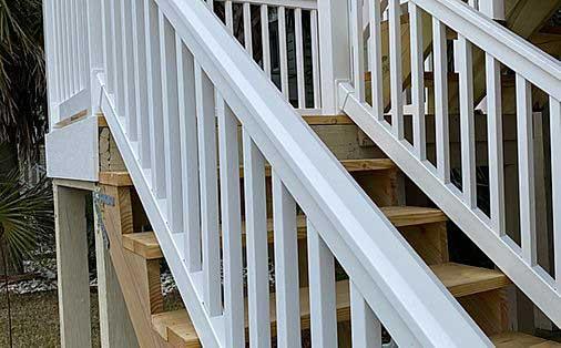 Vinyl Stair Railings