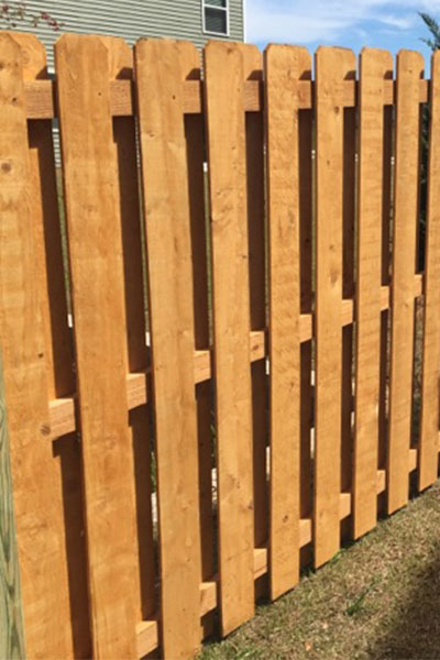 Prestained Wooden Fence